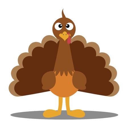 Cute cartoon Thanksgiving turkey  A vector illustration of a turkey  Thanksgiving turkey  Illustration of a turkey on white background  Turkey Escape Cartoon Mascot Character