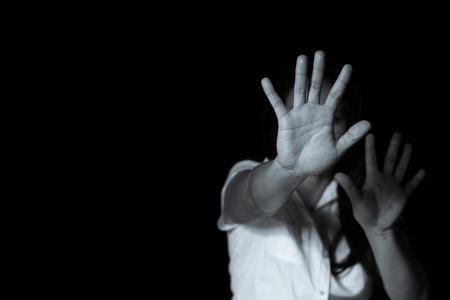 Photo pour Stop Sexual abuse Concept, stop violence against Women, international women's day - image libre de droit