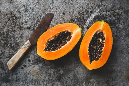 Papaya fruit slices