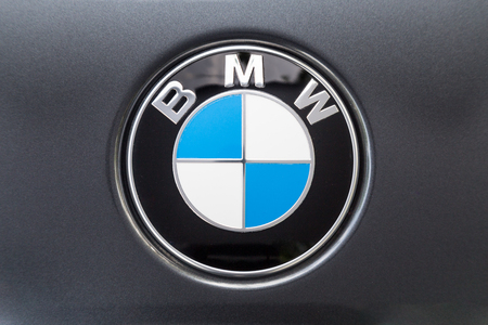 Photo pour KUALA LUMPUR, MALAYSIA - August 12, 2017: BMW or Bayerische Motoren Werke AG, is a leading German luxury vehicle, sports car, motorcycle, and engine manufacturing company. - image libre de droit