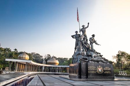 KUALA LUMPUR, MALAYSIA, APpril 18, 2019: Tugu Negara National Monument, a popular tourist destination in Kuala Lumpur.  Commemorates those who died in struggle for freedom