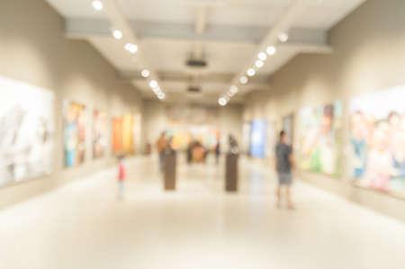 Foto de Blur or Defocus abstract image of People in Public Modern museum - Imagen libre de derechos