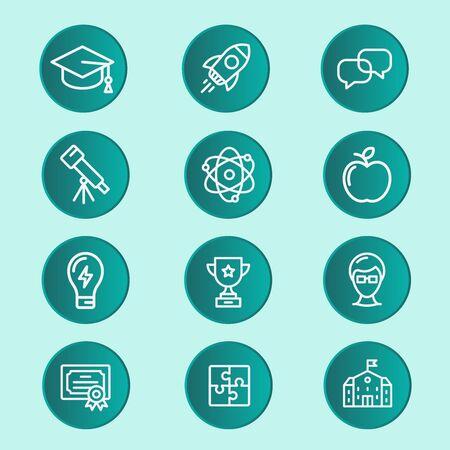 Illustration pour Education infographic about school skills elements template for graduation concept, This process helps your build visual, Presentation - image libre de droit