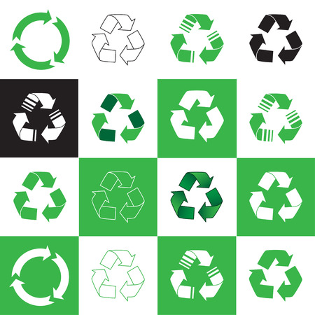 Collection of recycle icon. vector illustration