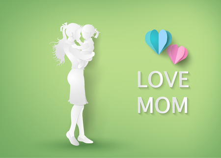 Illustration for Beautiful women with her daughters.happy mothers day - Royalty Free Image
