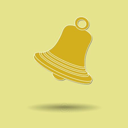Vector illustration of  box bell color background.