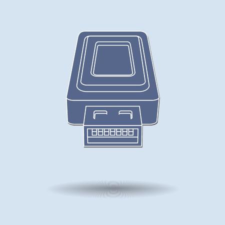 Vector illustration of  USB color background.
