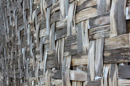 The wicker and bamboo made wall