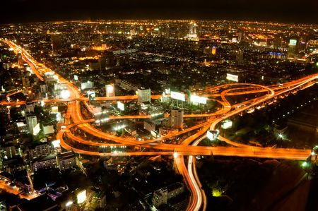 Express highway in the heart of Bangkok