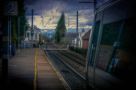 Railway in Stow Market Town