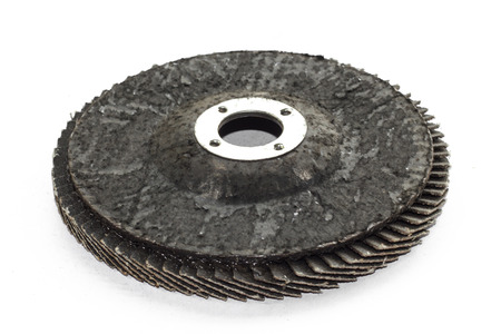 Special angle grinder sander discs for grinding and cutting isolated on a white background  Construction industry tools