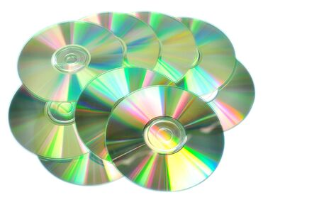 Compact Discs isolated on a white background. Studio shot