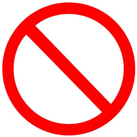 Illustration pour No Sign on white background  - image libre de droit