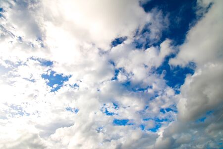 blue sky with clouds on sunny day