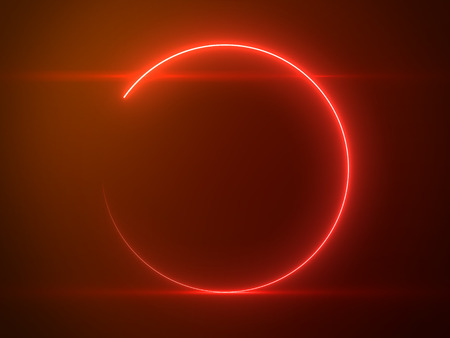 Photo pour Beautiful Red Circle Light with Lens Flare - Luxury Background Design Element - image libre de droit