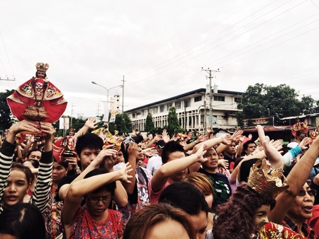 Procession across the City of the Child Jesus Sto. Nio before the actual fiesta. Attended regularly by all who pay patronage to Him.