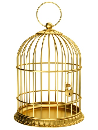 Photo for Gold cage - Royalty Free Image