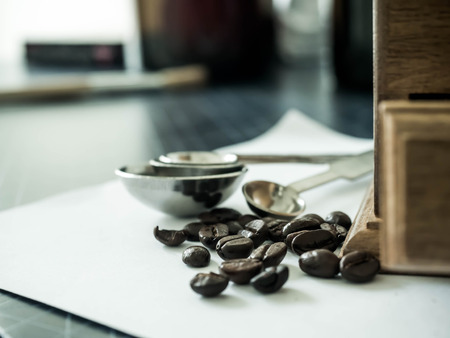 Coffee beans and Diff coffee grinder