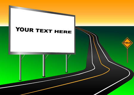 Billboard with road vector