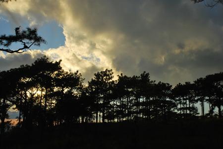 The sunset at Phukradueng
