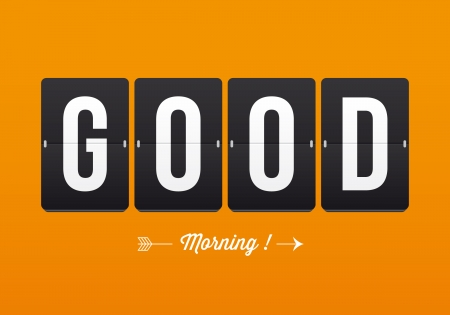Good morning, mechanical panel letters  Typography, font, type vector vintage retro