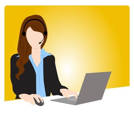 customer service woman communication
