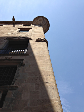 Old building in El Gotic district in Barcelona