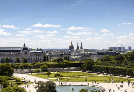 Aerial view of Jardin des Tuileries in Paris: Lizenzfreie ...