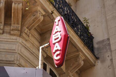 Tobacco sign in Paris.