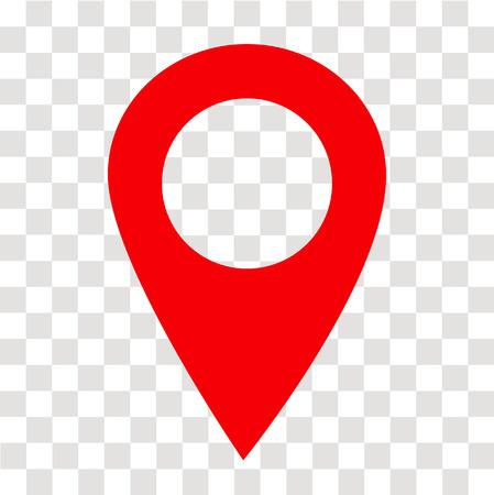 Ilustración de location pin icon on transparent. location pin sign. flat style. red location pin symbol. map pointer symbol. map pin sign. - Imagen libre de derechos