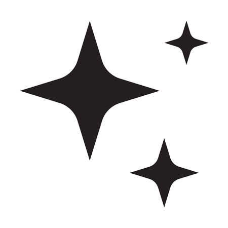 Illustration pour sparkles star icon on white background. flat style. sparkles star icon for your web site design, logo, app, UI. shine symbol. shining sign. - image libre de droit
