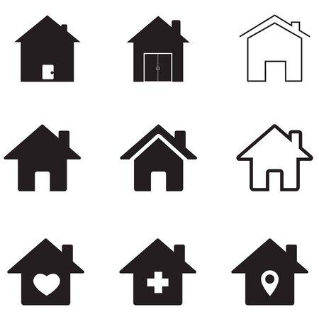 Vektor für houses icon on white background. flat style. homes icon for your web site design, app, UI. real estate symbol. house sign. - Lizenzfreies Bild