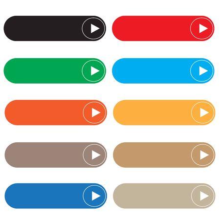 Illustration pour empty button on white background. flat style. rectangle web elements set for your web site design, logo, app, UI. web buttons symbol. set of blank buttons. - image libre de droit