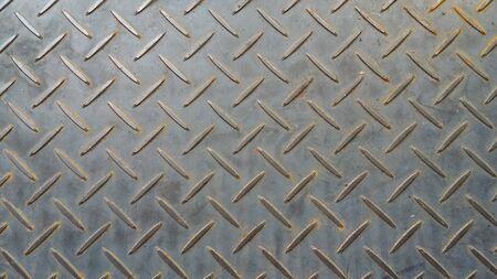 Photo pour checker plate floor surface texture steel grip metal grating - image libre de droit
