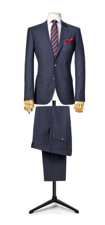 mens suit isolated on white. with a clipping path.