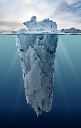 Photo for iceberg with underwater view taken in greenland - Royalty Free Image