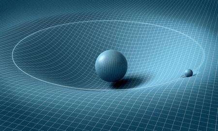 Photo pour sphere is affecting space / time around it . - image libre de droit