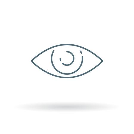 Eye sight icon. Eye sight sign. Eye sight symbol. Thin line icon on white background. Vector illustration.