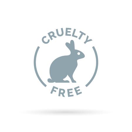 Foto de Animal cruelty free icon design. Product not tested on animals sign with rabbit silhouette symbol. Vector illustration. - Imagen libre de derechos