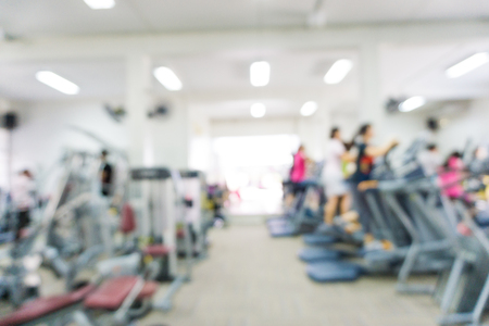 Abstract blur fitness gym background, Healthy symbol