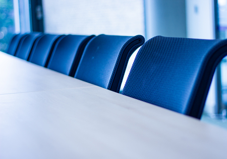 Photo for Row of office chairs - Royalty Free Image