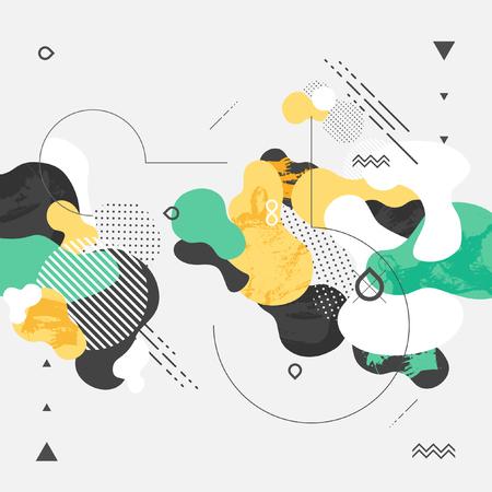 Illustration pour Abstract modern geometric background - image libre de droit
