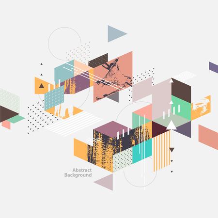 Ilustración de Abstract modern geometric background - Imagen libre de derechos