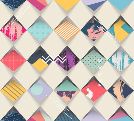Illustration pour Abstract seamless geometric background - image libre de droit