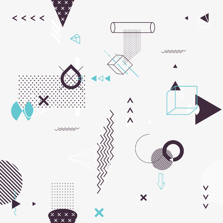 Ilustración de Seamless background of geometric elements - Imagen libre de derechos