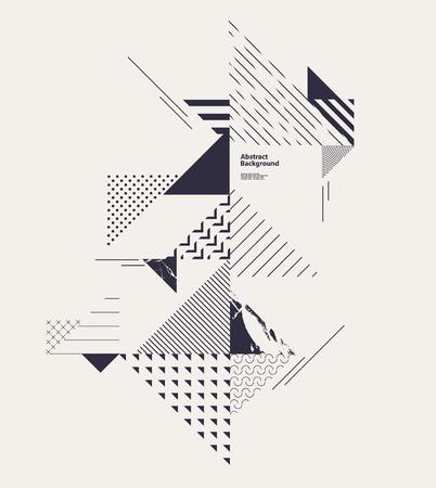 Ilustración de Abstract modern geometric composition - Imagen libre de derechos