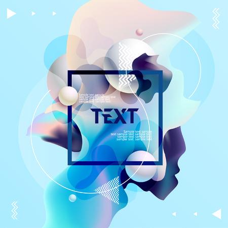 Illustration pour Fluid colors, poster design. Abstract colorful template. - image libre de droit
