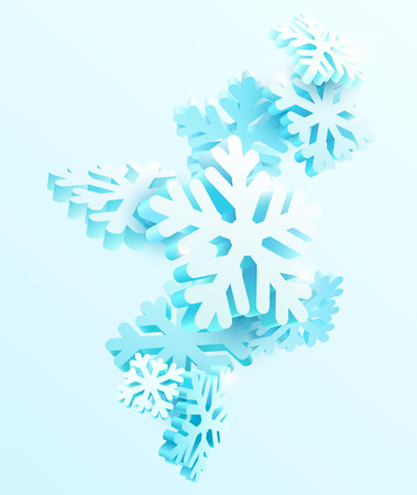 Ilustración de Winter abstract background with snowflakes - Imagen libre de derechos