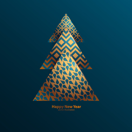 Illustration pour Stylized Christmas tree. - image libre de droit