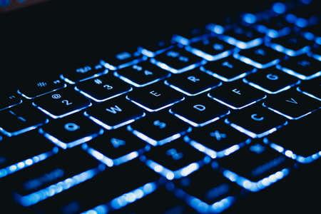 Photo pour laptop keyboard with backlight - image libre de droit
